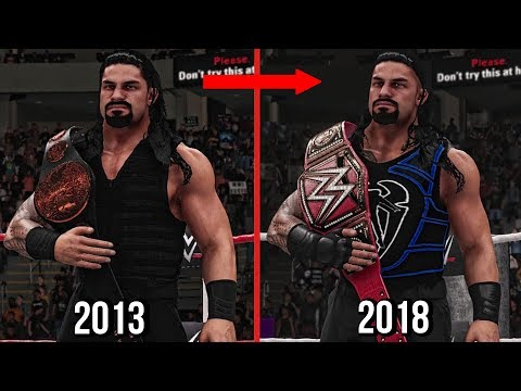 All Roman Reigns Championships Wins In WWE! 2013 To 2018 ( WWE 2K18 )