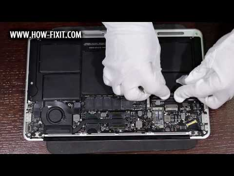 How to Wi-Fi card replacement on MacBook Air A1370, A1465 laptop