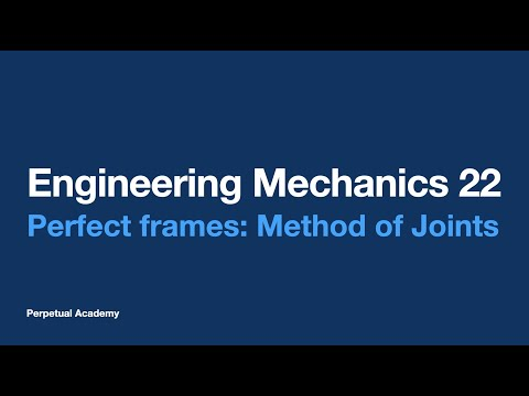 Engineering Mechanics Part 7.2.1 Perfect frames - Method of Joints