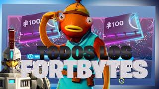 How TO GET ALL FORTBYTES!! - 4 Fortbites Fortnite