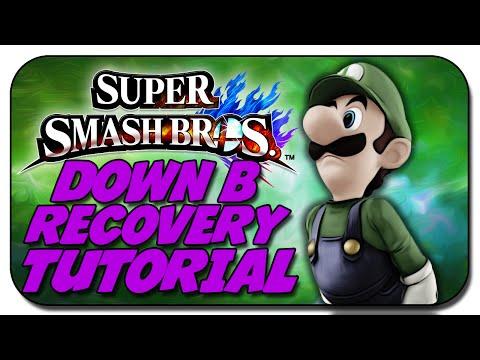 LUIGI DOWN B RECOVERY - SUPER SMASH BROS WII U / 3DS - TUTORIAL