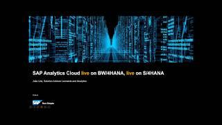 ربط مباشر إلى SAP S/4HANA و SAP BW/4HANA مع SAP تحليلات سحابة