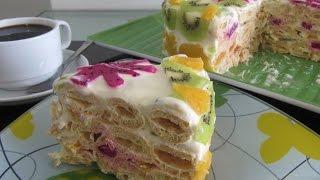 """Торт """"Дамские пальчики"""" Bánh Kem Ngón tay Tiểu thư. Huong dan lam banh kem sinh nhat"""