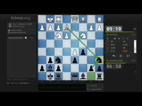 Partie n°57 Noirs: Bénoni (transposition) avec 9...Ca6!?