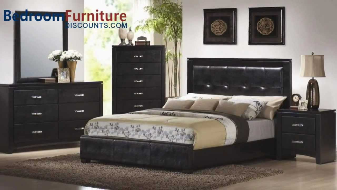 Coaster Dylan Platform Bedroom Set in Black   YouTube