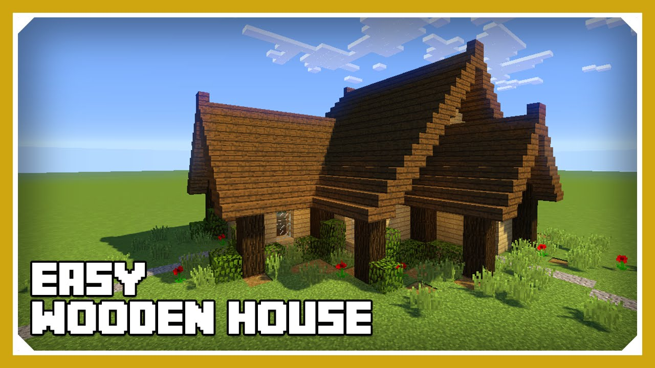 Minecraft How To Build A Wooden House Tutorial Easy