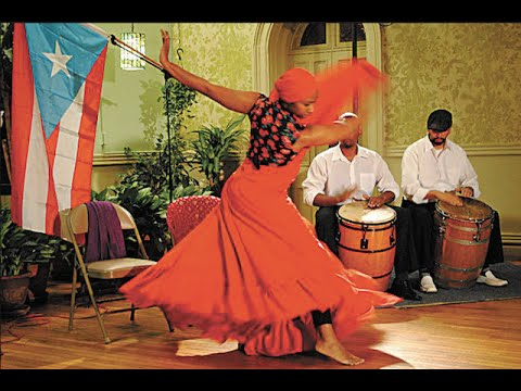 Bomba Dancing Tradicional Dance of Puerto Rico