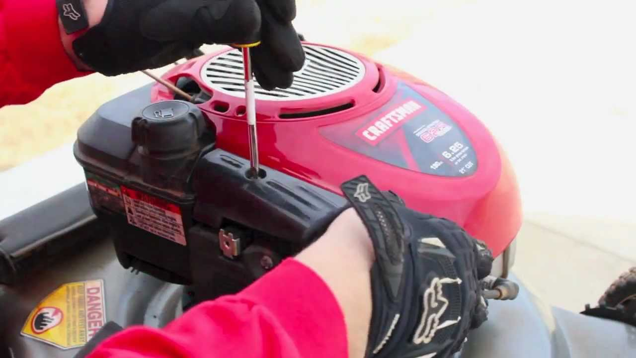 Repair Briggs Stratton Lawnmower Tune Up Carburetor Clean Youtube Snapper Lawn Mower Wiring Diagram