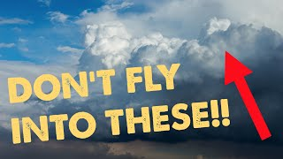 Why are cumulonimbus clouds dangerous?