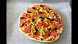 5 Dakikada Pizza Nasıl Yapılır (hamur yoğurmadan )bera tatlidunyasi