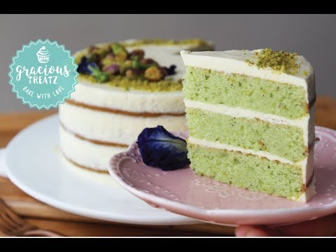 Eggless 3 Layer Pistachio Cake | Mother's Day Special