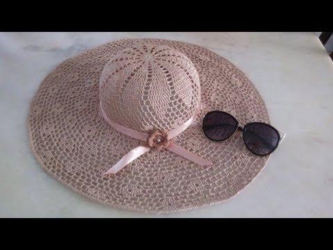 Chapéu de praia em crochê 1° parte - YouTube 30d4e35629f