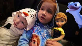 NEW Frozen 2 Movie!! First time with Adley and Niko! HIDE N SEEK game with Anna and a Friend!