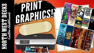 How To Print Fingerboard Graphics TUTORIAL + Template DL