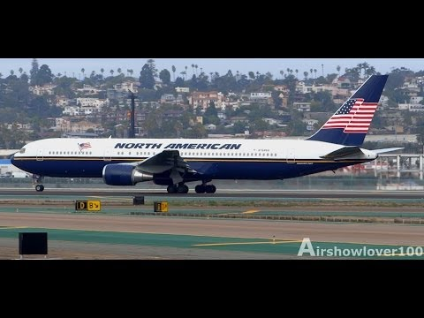 *Rare* North American Airlines Boeing 767-300ER Takeoff San Diego