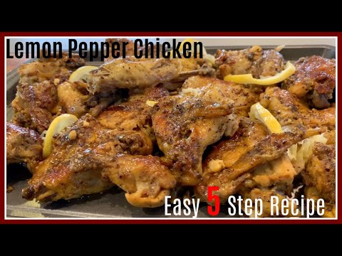Baked Lemon Pepper Chicken | Keto Recipe | Step by Step Recipe