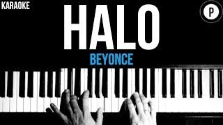 Beyonce - Halo Karaoke SLOWER Acoustic Piano Instrumental Cover Lyrics
