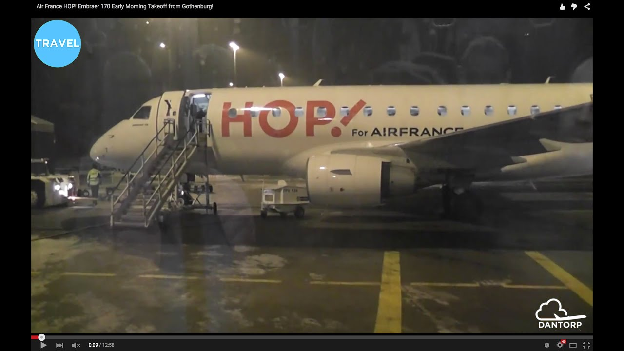 Air France HOP! Embraer 170 Early Morning Takeoff from Gothenburg!