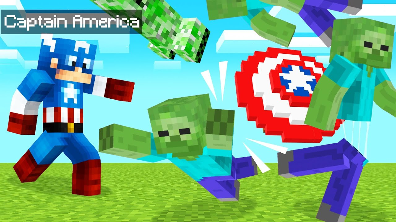 Playing As CAPTAIN AMERICA In MINECRAFT! (Dangerous) thumbnail