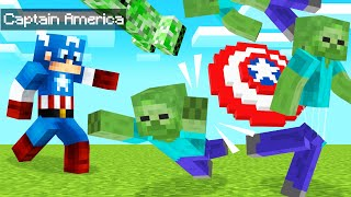 Playing As CAPTAIN AMERICA In MINECRAFT! (Dangerous)