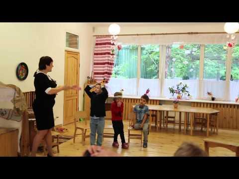 Игры с детьми. Детский  садик им. Ушинского Киев