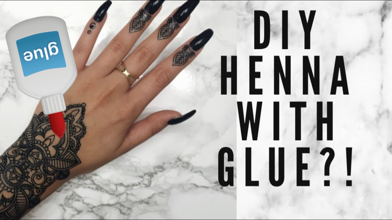 Diy Henna Tattoo Ink Without Henna Powder: Diy Henna Paste With Glue?!!