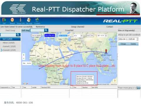 Real PTT system work with two way radio