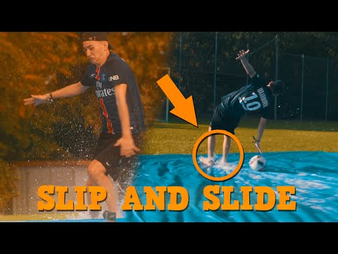 Slip N Slide Challenge Xxl Youtuber Fussball Challenges