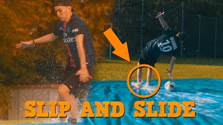 SLIP N' SLIDE CHALLENGE - XXL YouTuber Fussball Challenges