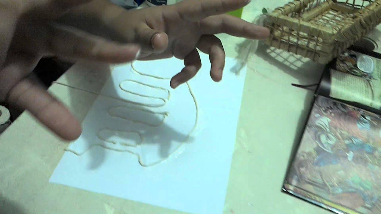 Artes Com Criancas Desenho De Barbante Youtube