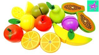 Learn Colors Learn Names Of Fruits | Make Toy Fruit Salad | Velcro Toy Wooden Food
