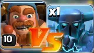 "WHO IS BETTER!?! ""Clash Of Clans"" BATTLE OF HEROES!!"