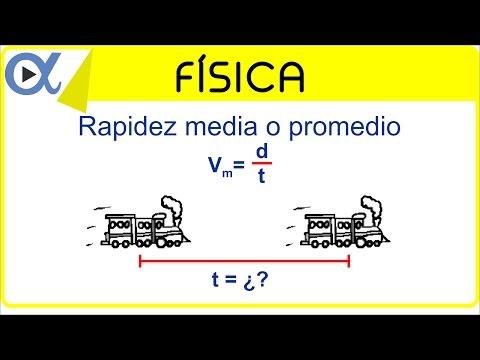 Rapidez media o promedio ejemplo 3 | Física - Vitual