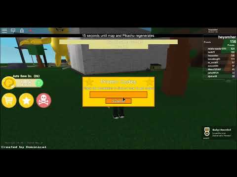 roblox a very hungry pikachu codes 2018