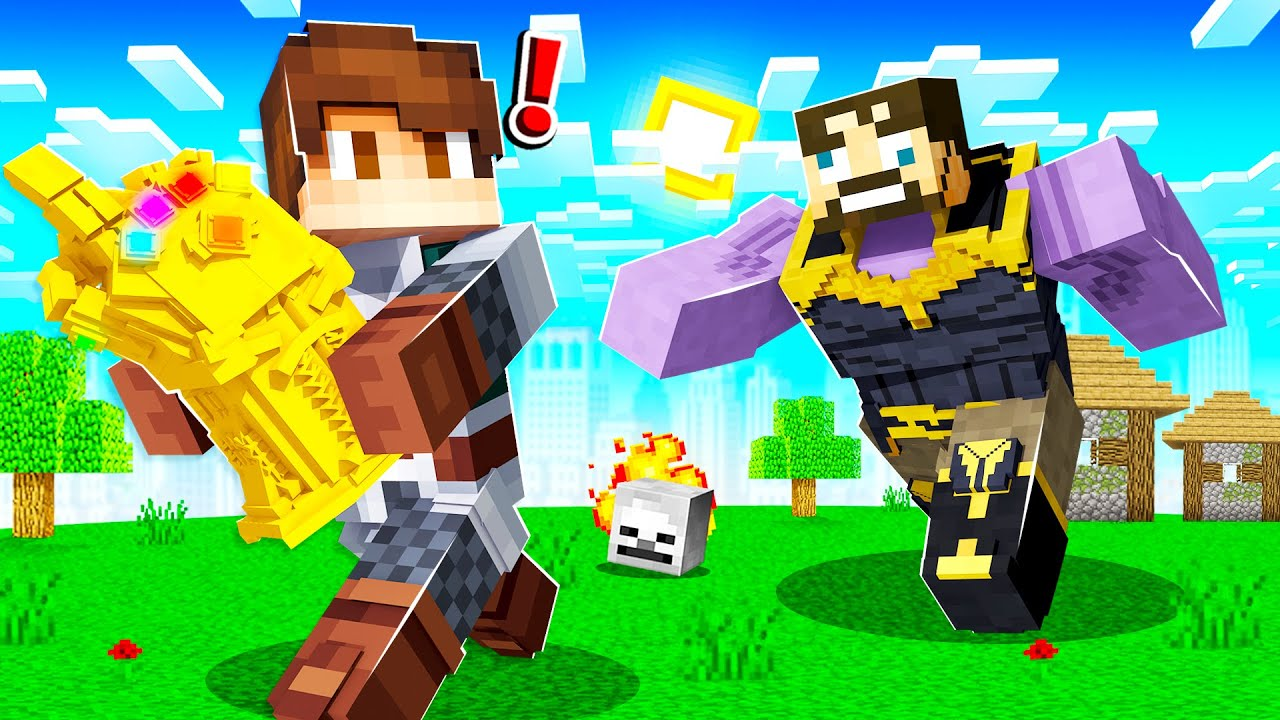 STEALING INFINITY GAUNTLET from THANOS in INSANE CRAFT!
