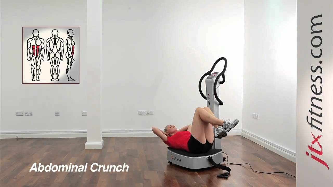 Vibration Plate Exercises How To Do Abdominal Crunches
