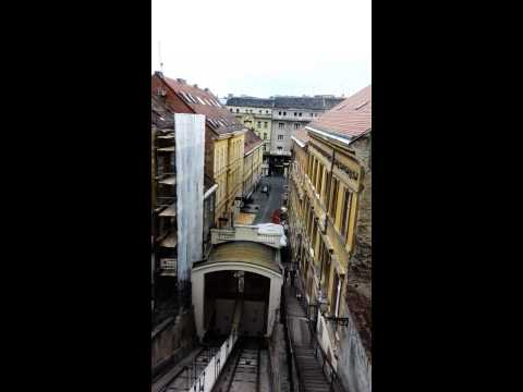 Ride on the Zagreb funicular