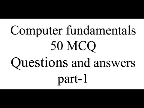 Computer fundamentals 50 MCQ Questions and answers part-1