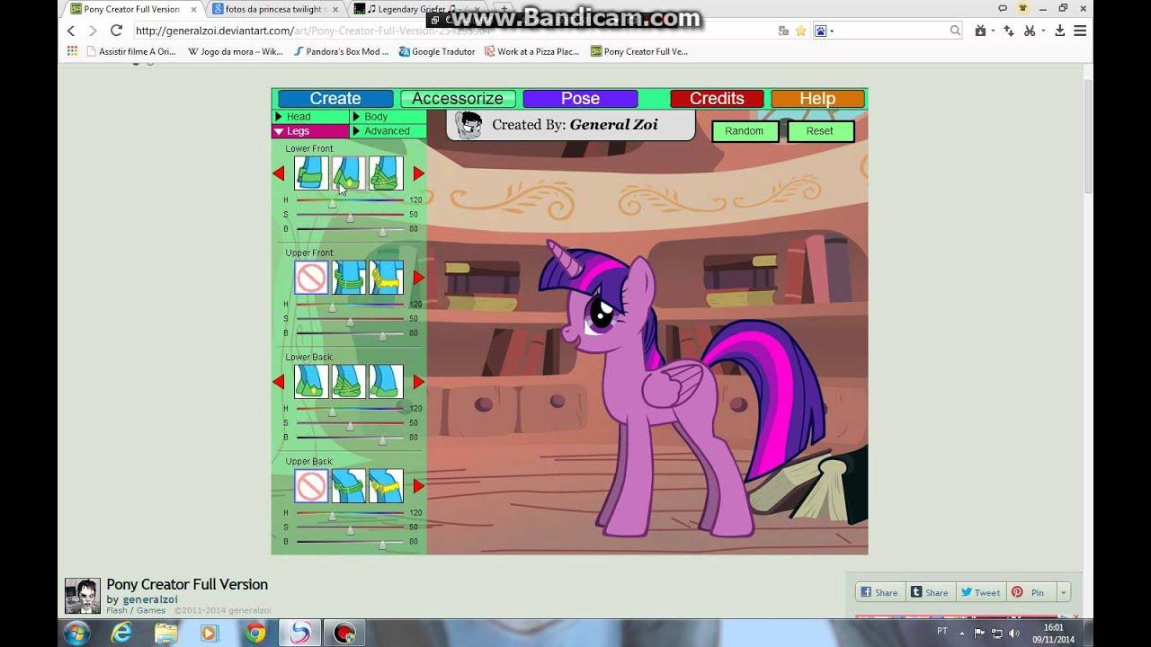 Пони креатор v3 полная версия - игра создай свою пони