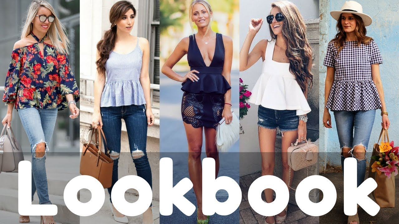 Latest Peplum Top Outfits Ideas Lookbook 2018 | Summer Women Fashion