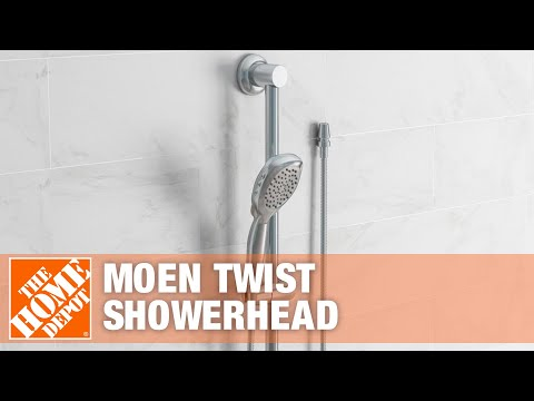 Moen Twist Showerhead With Multiple Settings   The Home Depot