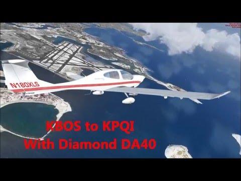 Flights around the USA 03 - Boston (KBOS) to Northern Maine (KPQI)