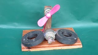 How to make magnetic generator free energy fan by using DC motor