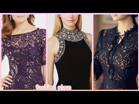 Gorgeous Beads Work Bodycon Evening Party Dresses Styles For Women's