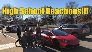 LAMBORGHINI REACTION VIDEO: Picking Up My Daughter from School In The Huracan