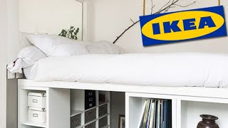 💙IKEA hack platform bed.💛20 DIY ideas IKEA bed.💙