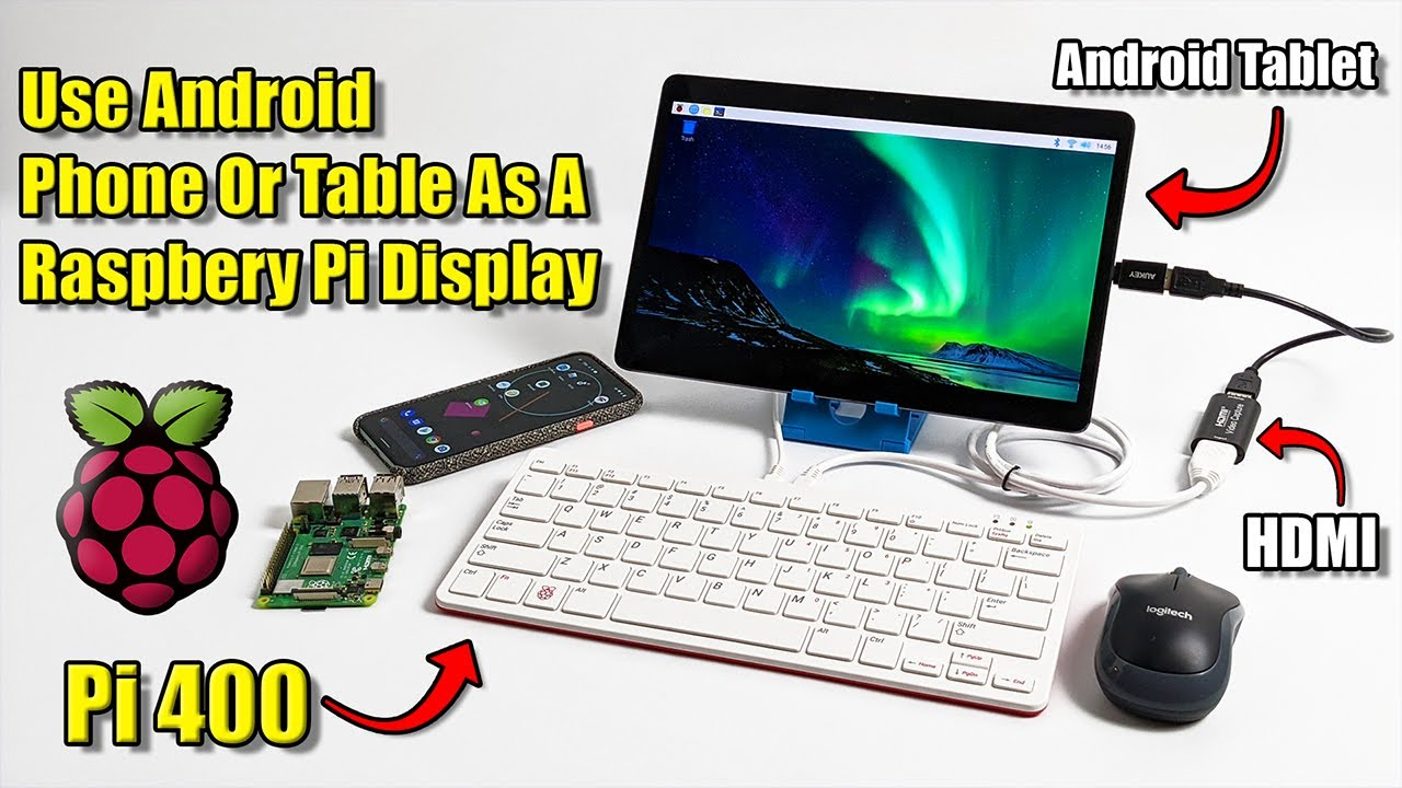 Use Your Android Phone Or Tablet As A Raspberry Pi 400 Screen Youtube