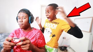 IGNORING My Little Brother For 24 Hours Challenge! (He Got Mad)