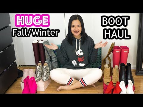 Huge Fall/Winter Boot Haul + Try On - Target, Nordstrom, Tory Burch, Hunter, Steve Madden + Others