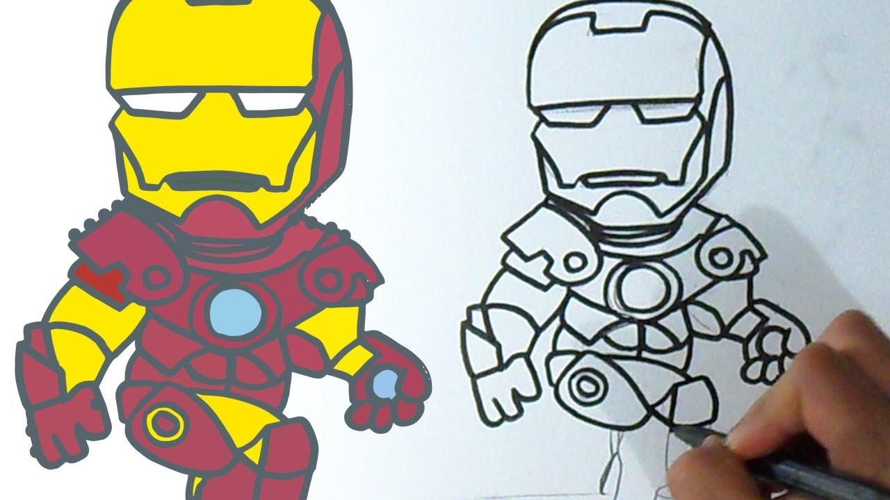 Como Dibujar A Ironman Kawaii Youtube